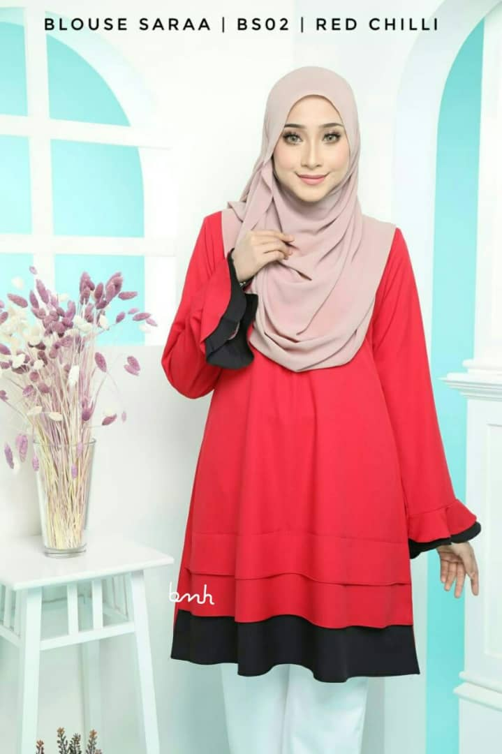 BLOUSE MUSLIMAH SARAA POLY CREPE BS02 2