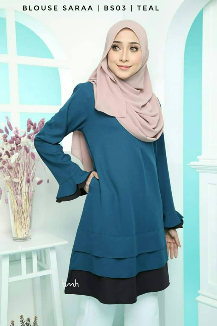 BLOUSE MUSLIMAH SARAA POLY CREPE BS03 1