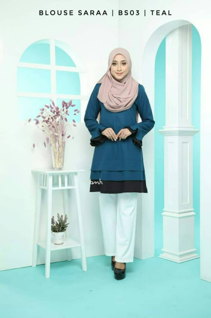 BLOUSE MUSLIMAH SARAA POLY CREPE BS03 2