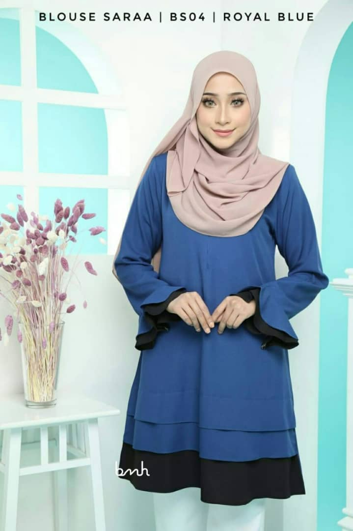BLOUSE MUSLIMAH SARAA POLY CREPE BS04 1