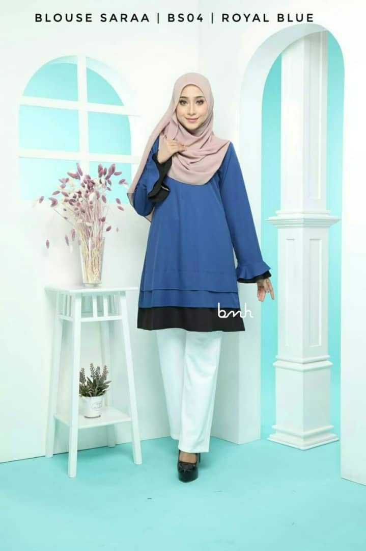 BLOUSE MUSLIMAH SARAA POLY CREPE BS04 2