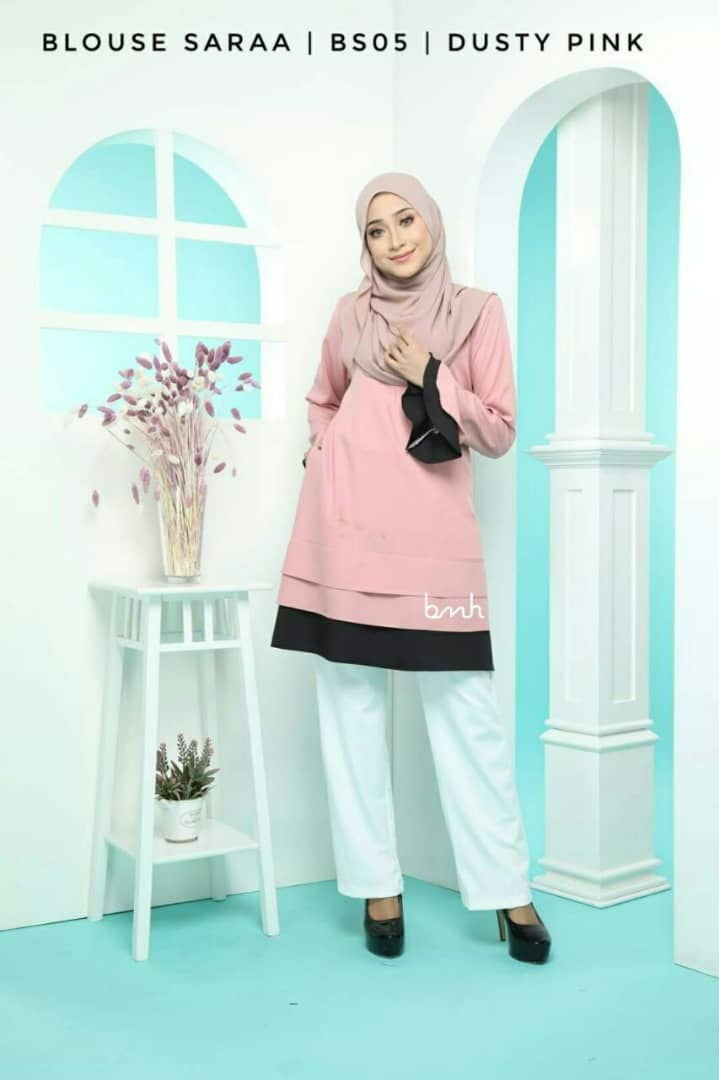 BLOUSE MUSLIMAH SARAA POLY CREPE BS05 1