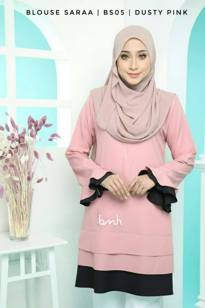 BLOUSE MUSLIMAH SARAA POLY CREPE BS05 2
