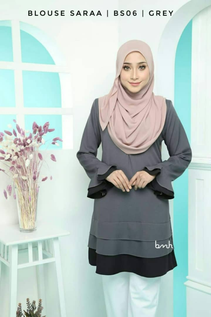 BLOUSE MUSLIMAH SARAA POLY CREPE BS06 1