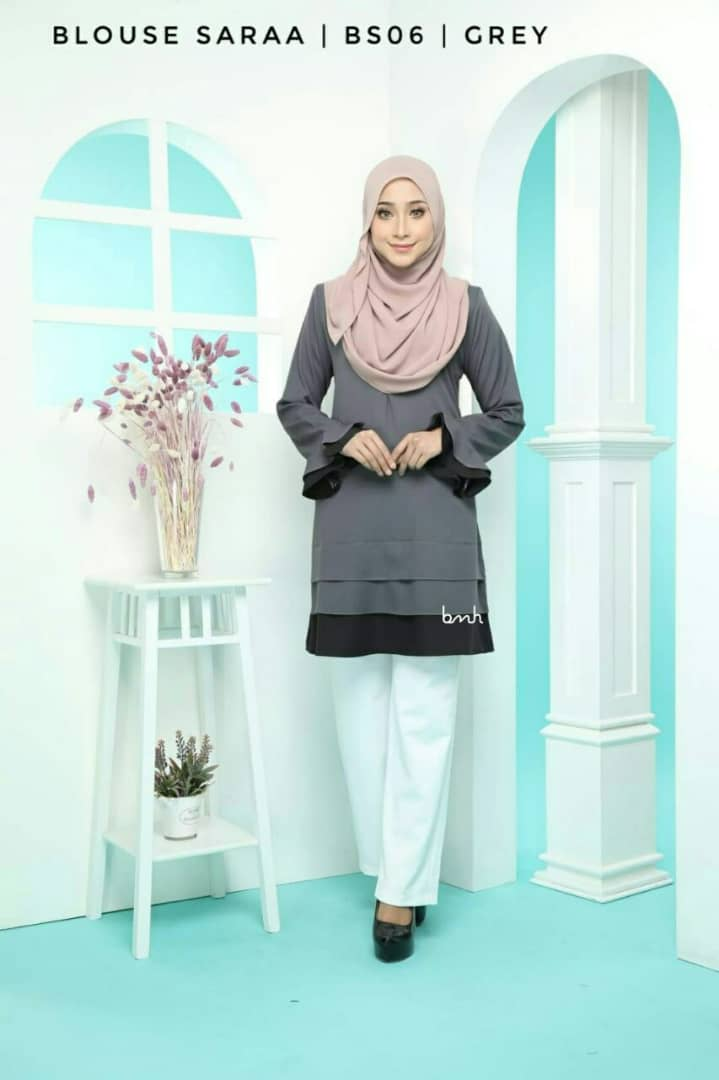 BLOUSE MUSLIMAH SARAA POLY CREPE BS06 2