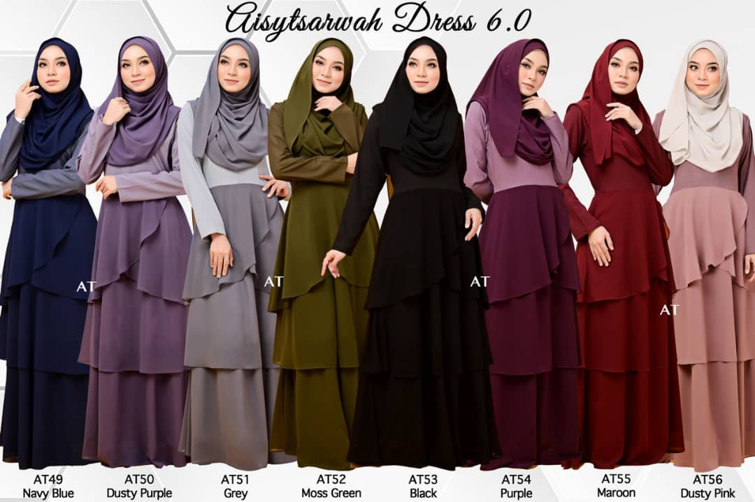 DRESS LAYER CHIFFON AISY TSARWAH ALL