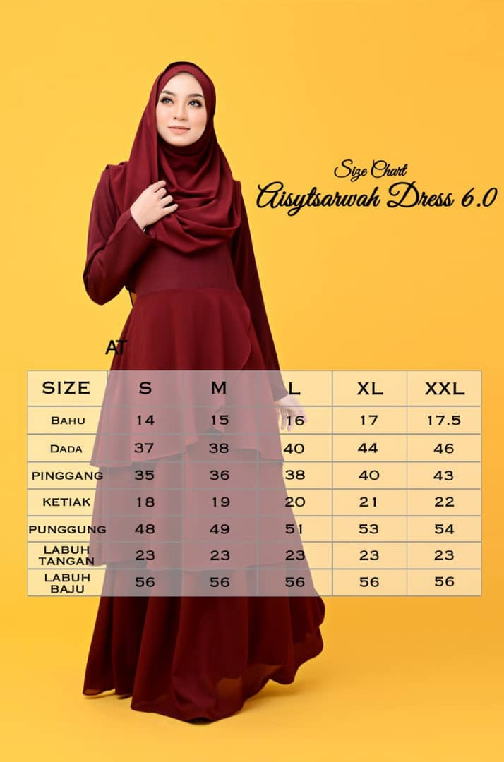 DRESS LAYER CHIFFON AISY TSARWAH UKURAN