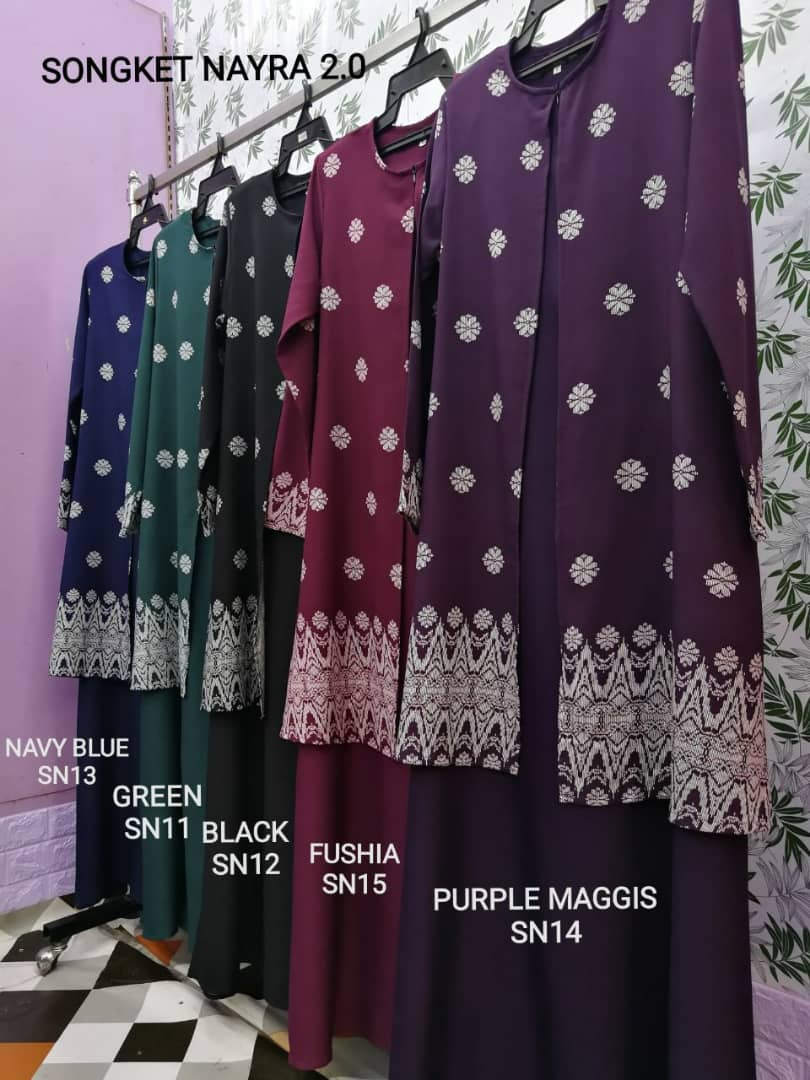 JUBAH CARDIGAN SONGKET NAYRA RAYA 2019 ALL 2