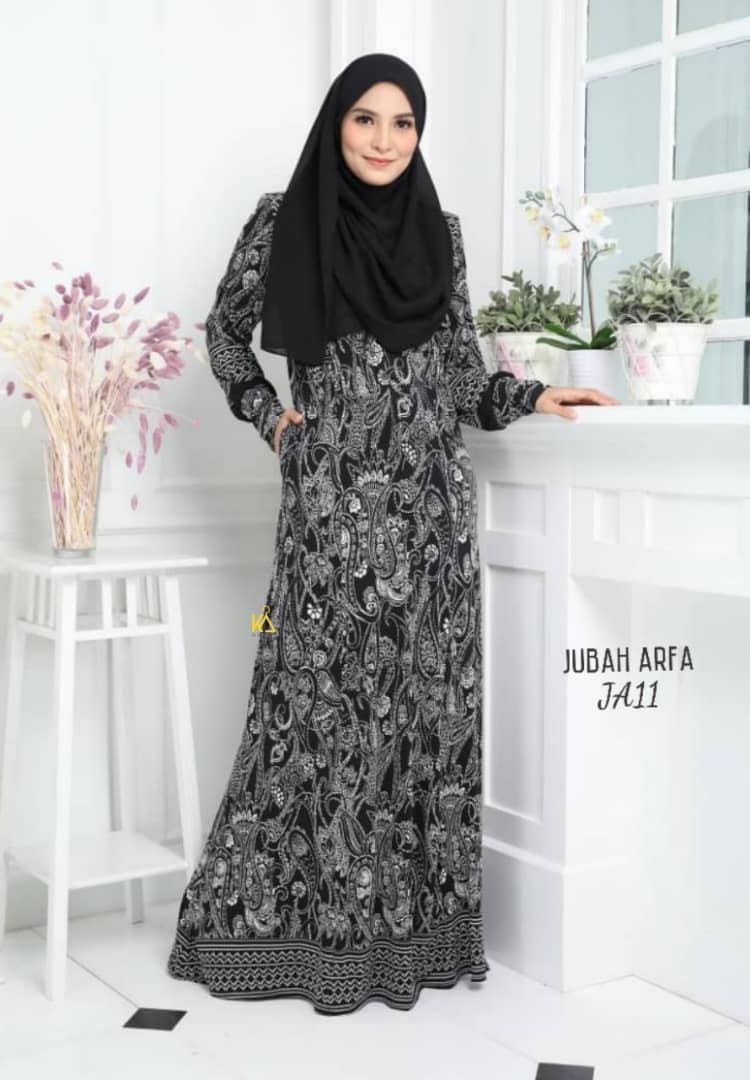 JUBAH LYCRA IRONLESS TRAVEL FRIENDLY ARFA JA11 1