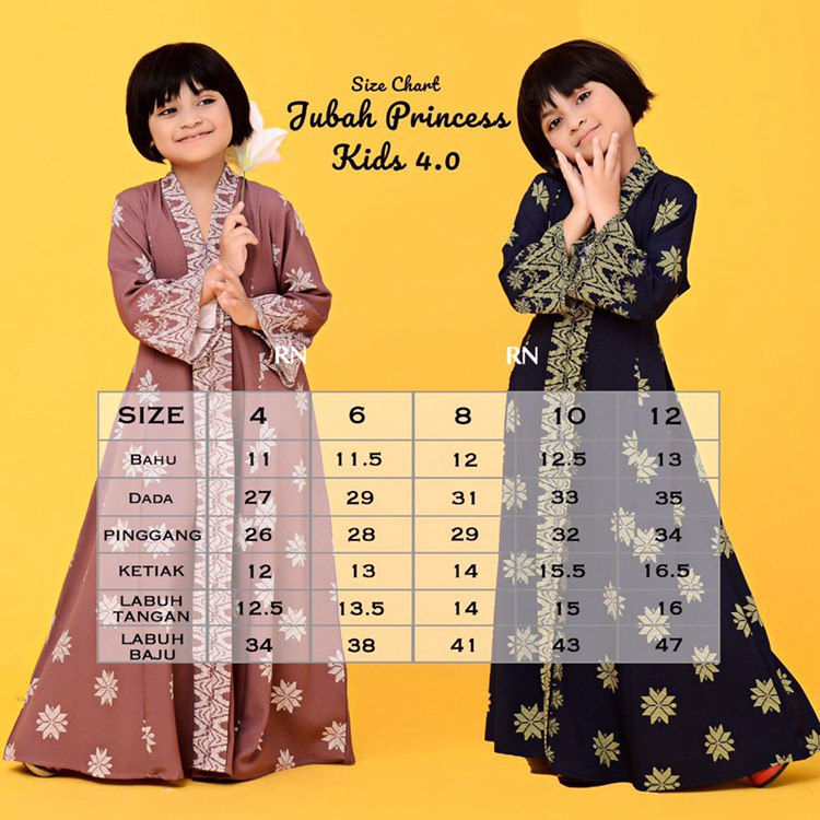 JUBAH PRINCESS SEDONDON SONGKET RAYA 2019 TERKINI UKURAN KIDS
