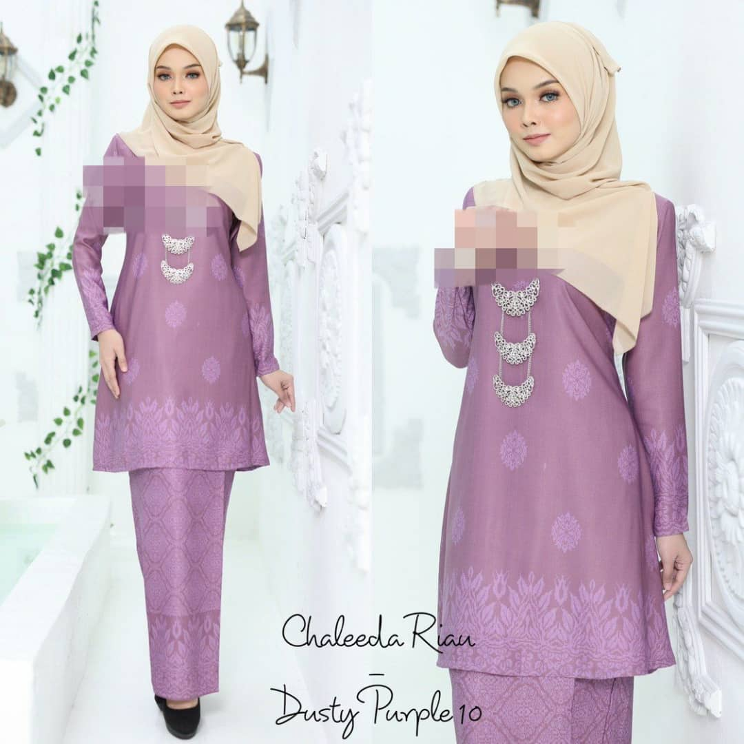 KURUNG CHALEEDA SONGKET RIAU RAYA 2019 DUSTY PURPLE