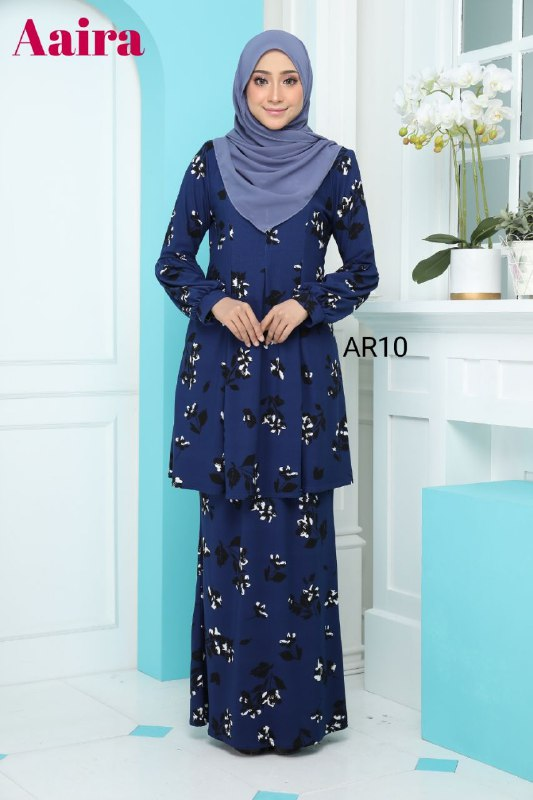 BAJU KURUNG MODEN IRONLESS TRAVEL FRIENDLY AAIRA AR10 1