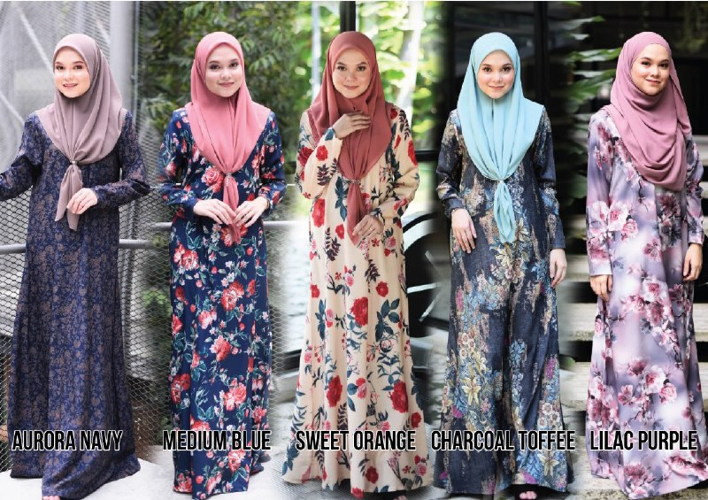 JUBAH RAYA TERKINI 2019 FLOARE ALL