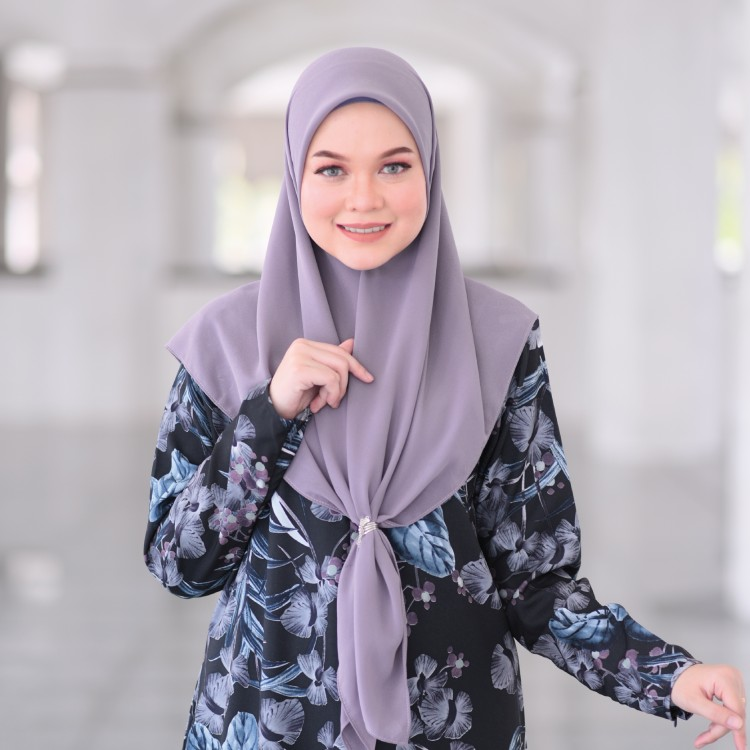 JUBAH RAYA TERKINI 2019 FLOARE RAYA DARK BLUE PETUNA 2