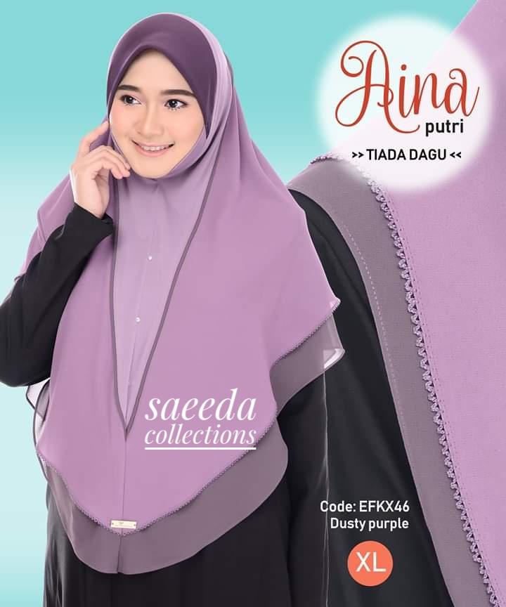 TUDUNG INSTANT LABUH RAYA LAYER AINA PUTRI SAIZ XL EFKX46