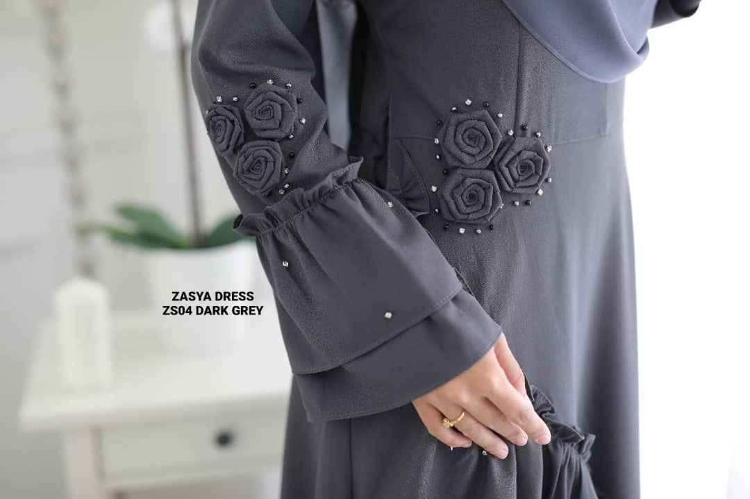 DRESS ZASYA SEDONDON RAYA 2019 ZS CLOSE