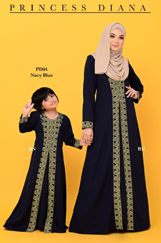 JUBAH PRINCESS DIANA RAYA SEDONDON 2019 PD04 3