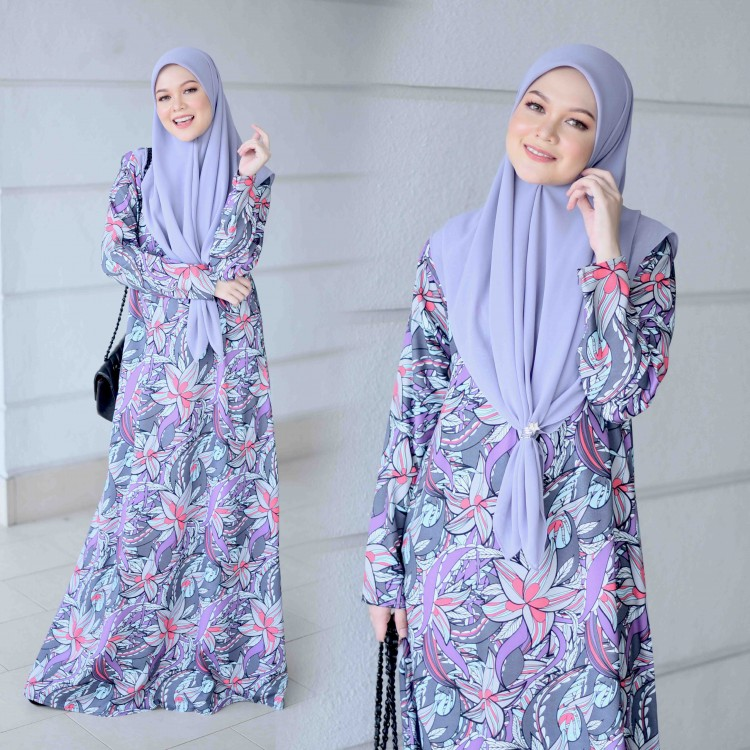 JUBAH PRINTED AIRIS RAYA 2019 PROUDLY PURPLE 1