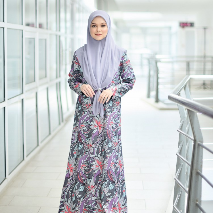 JUBAH PRINTED AIRIS RAYA 2019 PROUDLY PURPLE 2