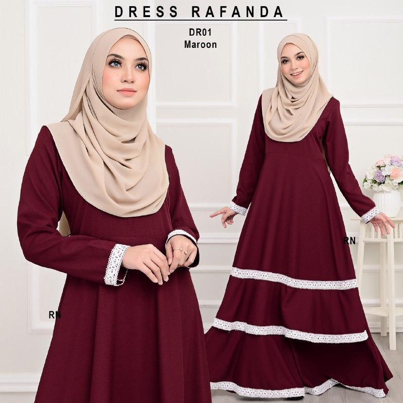 DRESS RAFANDA MUSLIMAH JUBAH DR01 1