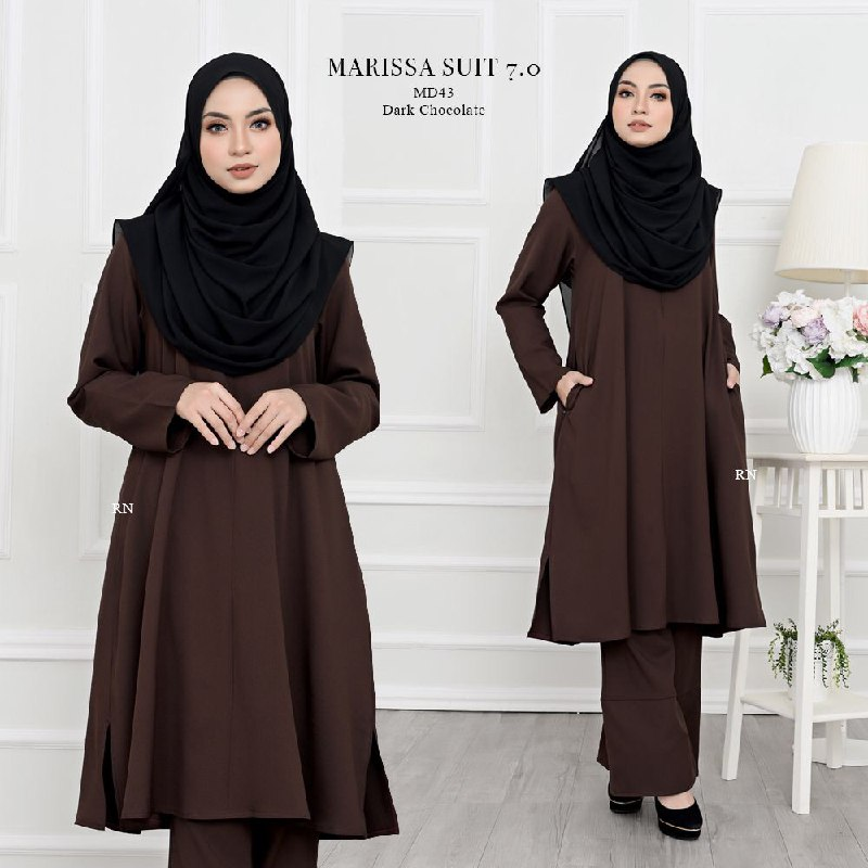 SUIT JUBAH SELUAR MUSLIMAH HAJI MARISSA MD43