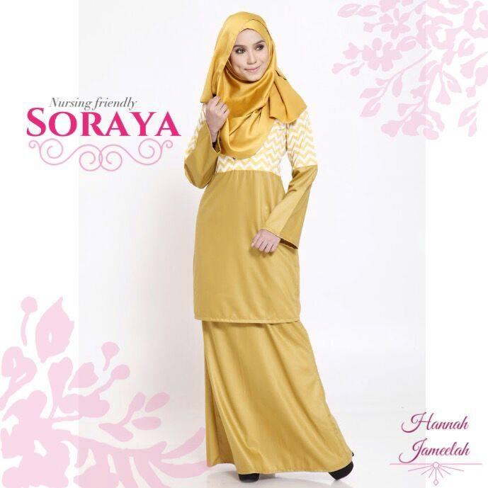 Baju Kurung Nursing Cotton Soraya Gold Mustard