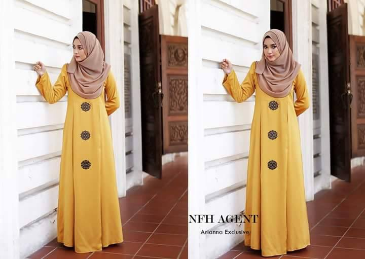 Dress Silk Raya 2016 Arianna Mustard Gold